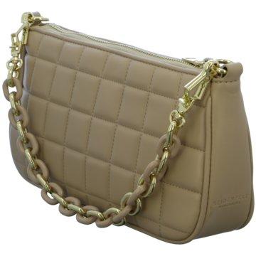 SEIDENFELT Handtasche braun