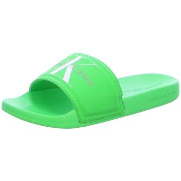 Calvin Klein Badelatsche grün