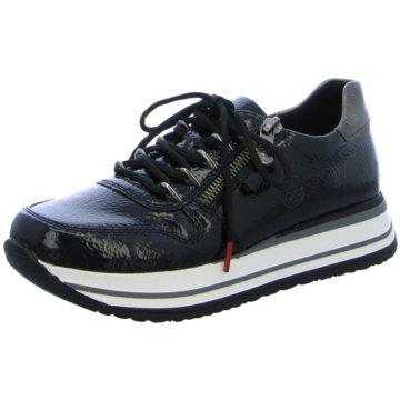 Rieker Plateau Sneaker schwarz