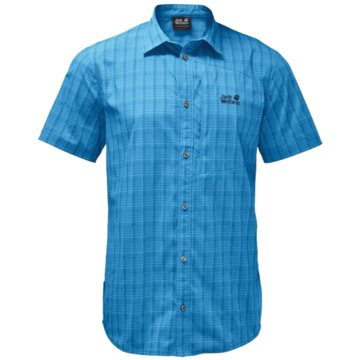 JACK WOLFSKIN KurzarmhemdenRAYS STRETCH VENT SHIRT MEN - 1401552 blau