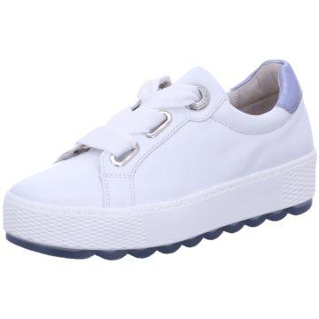 Gabor comfort Plateau SchnürschuheSneaker weiß
