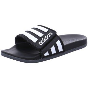 adidas BadelatscheAdilette Comfort Adjustable schwarz