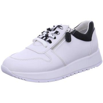 a+w Sportlicher Schnürschuh weiß