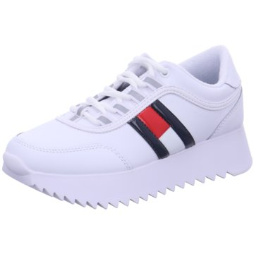 Tommy Hilfiger Plateau SneakerHigh Cleated Flag weiß