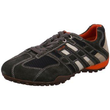 Geox Sportlicher SchnürschuhSnake schwarz