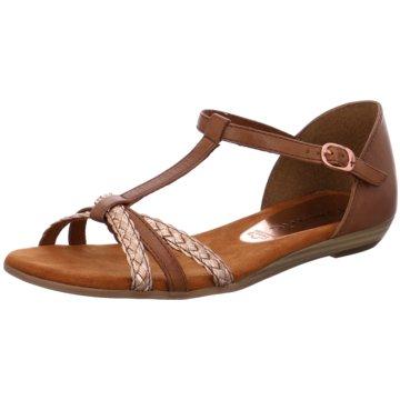 tamaris sandale leder braun multicolor, Tamaris Damen