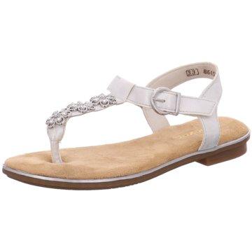 Rieker Offene Schuhe weiß