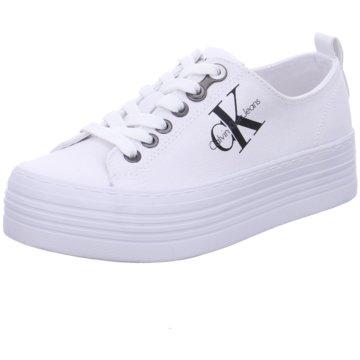 Calvin Klein Plateau Sneaker weiß