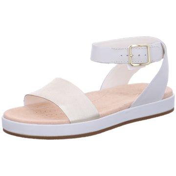 Clarks Komfort Sandale weiß