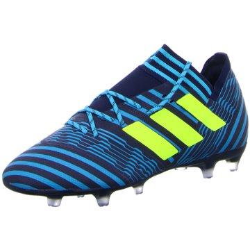 adidas Nocken-SohleNemeziz 17.2 FG Herren Fußballschuhe Nocken blau gelb blau