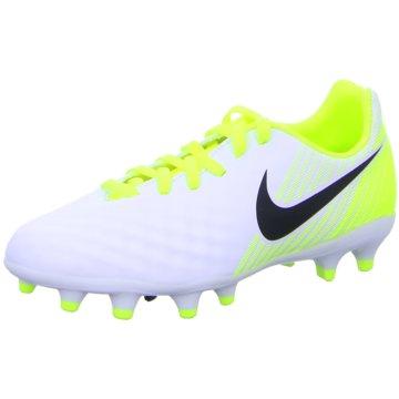 Nike FußballschuhMagista Opus II FG Kinder Fußballschuhe Nocken weiß gelb weiß
