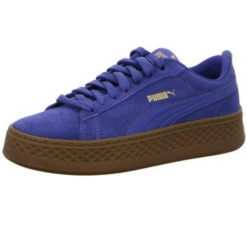 Puma Plateau Sneaker blau