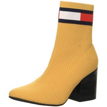 Tommy Hilfiger Klassische StiefeletteFlag Sock Mid Heel gelb