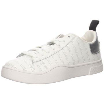 Diesel Sportlicher Schnürschuh weiß