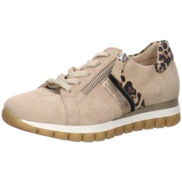 Gabor comfort Komfort SchnürschuhSneaker beige