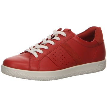 Ecco Sportlicher Schnürschuh rot
