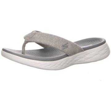 Skechers Bade-Zehentrenner grau