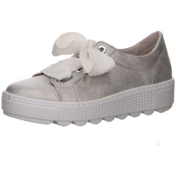 Gabor Plateau Sneaker silber