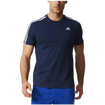 adidas T-ShirtsEssentials 3 Stripes Tee Herren T-Shirt blau -
