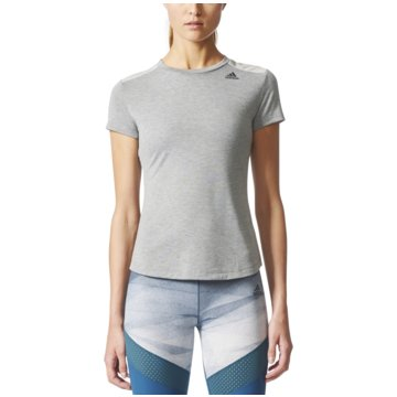 adidas DamenPrime T-Shirt Mix Damen Trainingsshirt grau -
