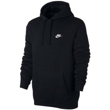 Nike HoodiesSportswear Fleece Club Hoodie Herren Kapuzenpullover schwarz schwarz