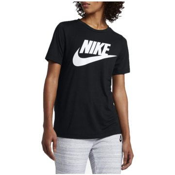 Nike T-ShirtsSportswear Essential Camo Damen T-Shirt schwarz schwarz