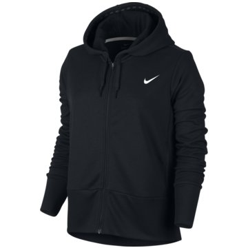 Nike FleecejackenTrainings Hoodie Damen Kapuzenjacke schwarz schwarz