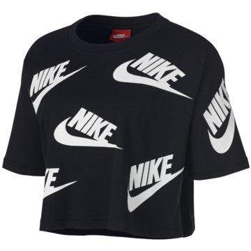 Nike T-ShirtsFutura Toss Cropped T-Shirt schwarz