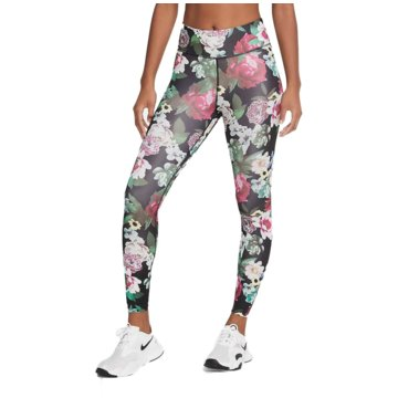 Nike TightsNike One Women's Floral 7/8 Tights - CU6099-010 bunt