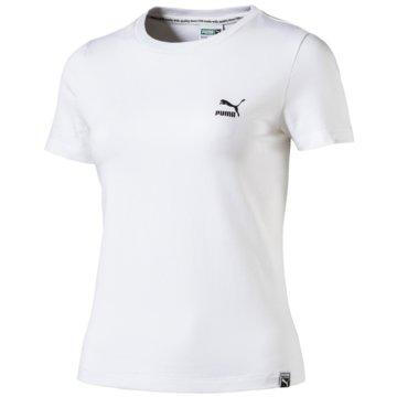 Puma Sport-BHClassic Logo Tight Tee weiß