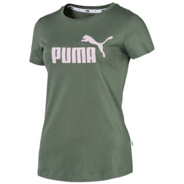 Puma FunktionsshirtsEssentials Logo Tee Women grün