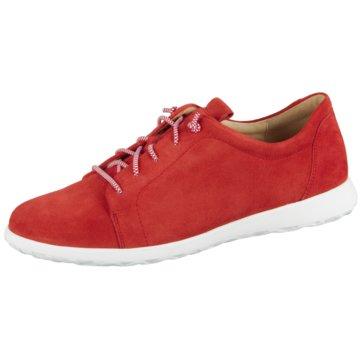 Ganter Komfort Schnürschuh rot