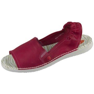 Softinos Komfort Sandale rot
