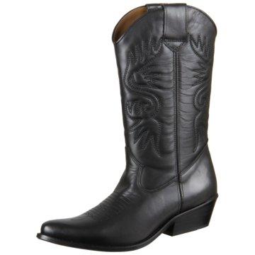 DWRS Cowboystiefel schwarz