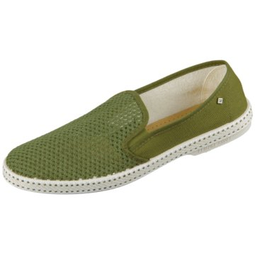 Rivieras Sportlicher Slipper grün