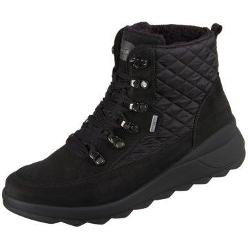 Waldläufer Komfort Stiefelette schwarz