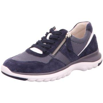 Gabor Komfort Schnürschuh blau