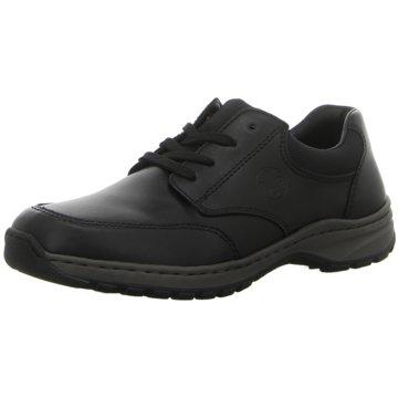 Rieker Komfort Schnürschuh schwarz