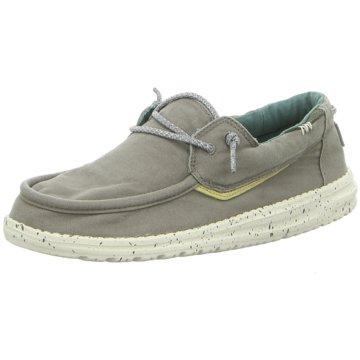 Hey Dude Shoes Mokassin SchnürschuhWelsh Washed grau