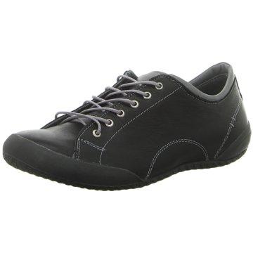 Andrea Conti Sportlicher Schnürschuh schwarz