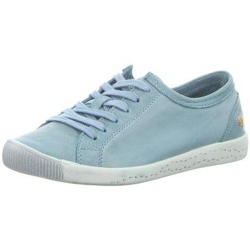 Softinos Sportlicher Schnürschuh blau