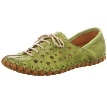 Gemini Komfort Schnürschuh grün