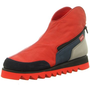 Clamp Plateau Stiefelette rot