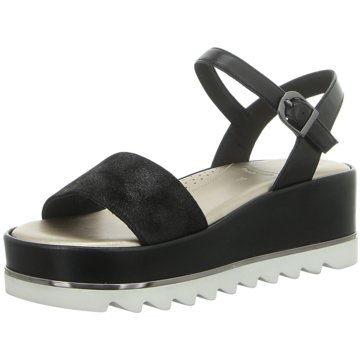 Tizian Plateau Sandalette schwarz