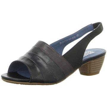 Regarde le ciel Komfort Sandale schwarz