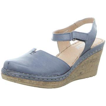Manitu Komfort Sandale blau
