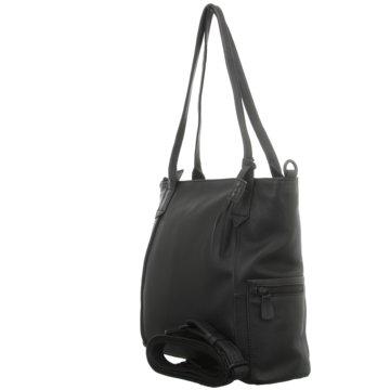 Voi Leather Design Taschen DamenSchultertasche schwarz