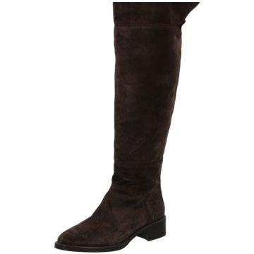 Alpe Woman Shoes Overknee Stiefel grau
