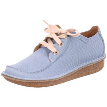 Clarks Komfort Mokassin blau