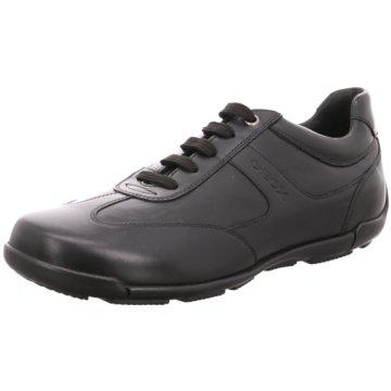 Geox Sportlicher Schnürschuh schwarz
